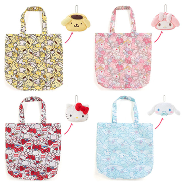 b5f27f2fb5ce Cute Cartoon Hello Kitty My Meloday Folding Reusable Shopping Bag Eco  Friendly Tote Bag Foldable Shopper Grocery Bags Handbag