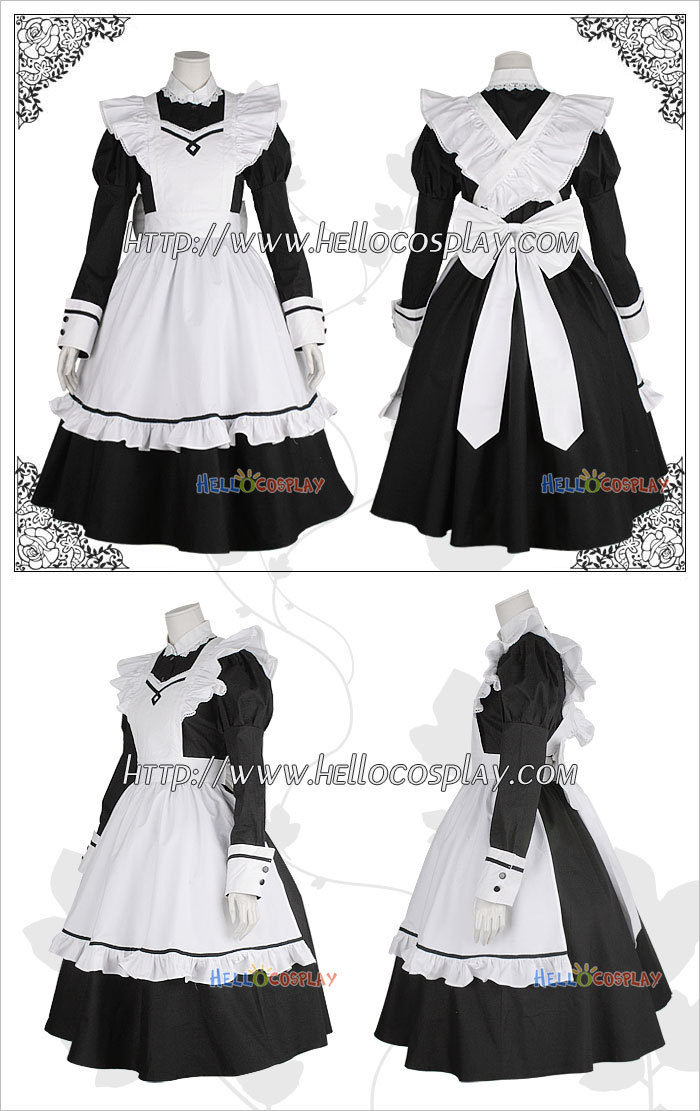 Anime girl in maid outfit