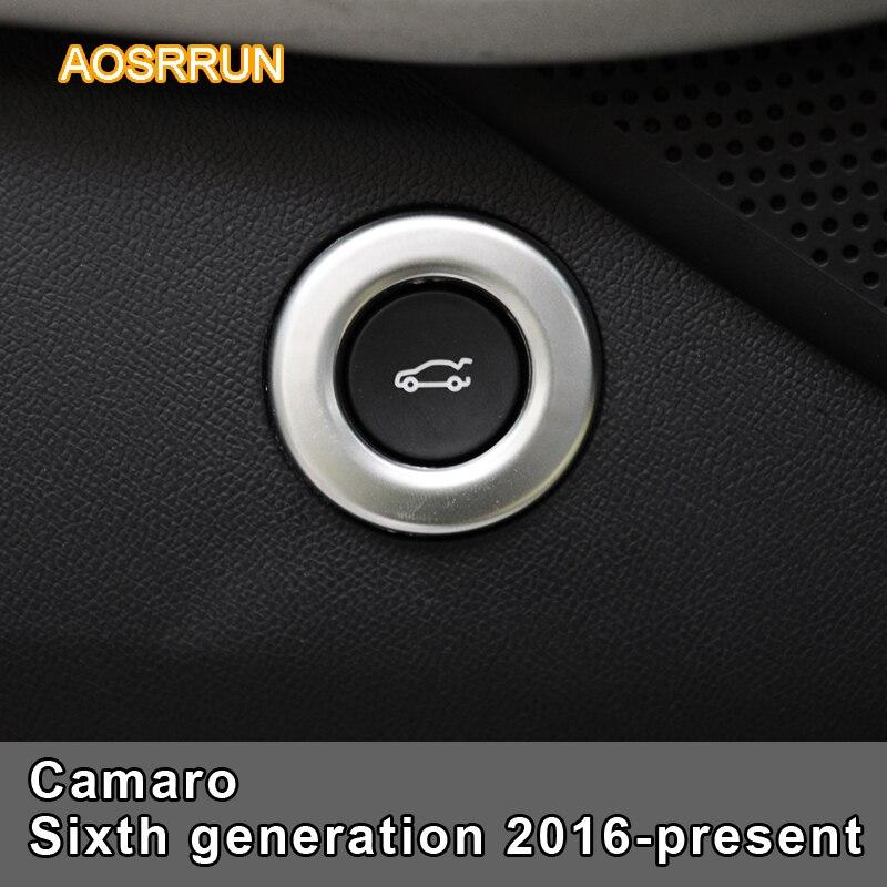 100% Kwaliteit Aosrrun Massa Abs Auto Venster Lift Schakelaar Cover Auto Accessoires Voor Chevrolet Camaro Zesde Generatie 2016-present Mild En Mellow