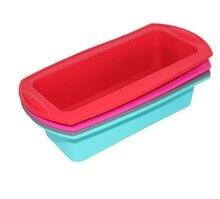 Free shipping Wholesale DIY Rectangular shape silicone Cake mold / cake muffin soap bakeware 1 pcs