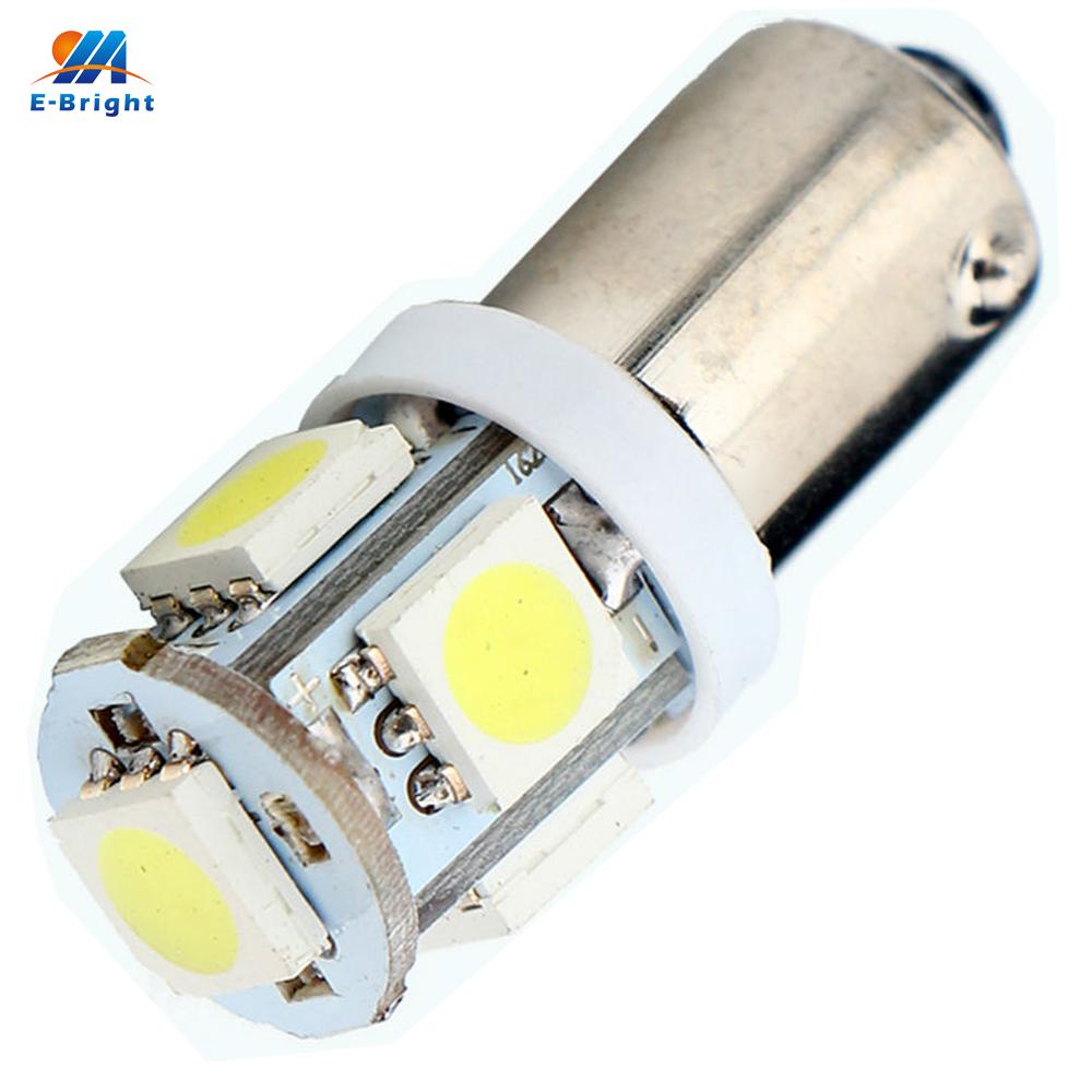 Prix pour 100 pcs BA9S Voiture Led Intérieur Ampoules BA9S 5050 5 SMD DC 12 V Super Bright Light Reading N ° Lumière De Voiture Ampoules Ba9s Blanc
