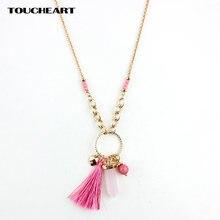 Toucheart холодное длинное ожерелье женское Розовое и подвески