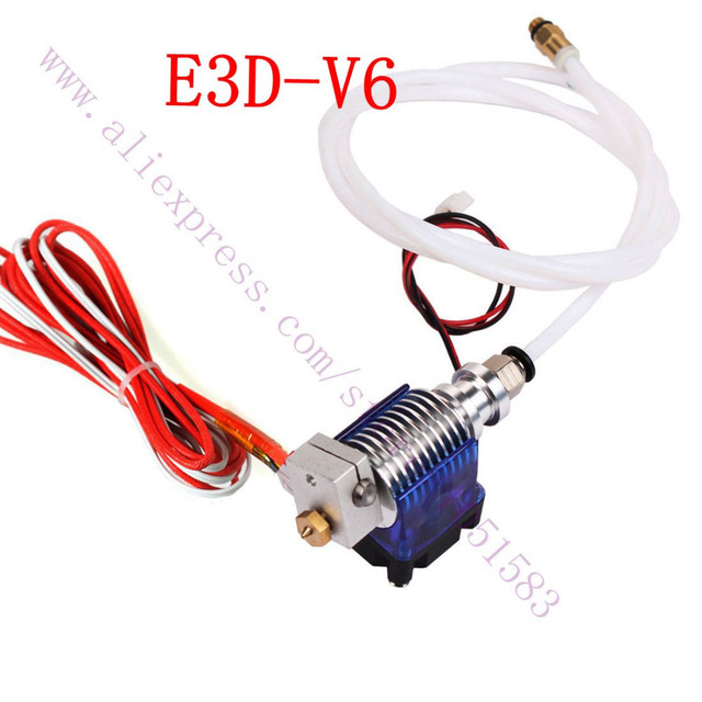 0.4mm/0.3/0.5 Nozzle, V6 All metal J-head Hotend Bowden Extruder Full Set with Fan,12V/24V Heater& PTFE Tubing for 1.75mm Bowden