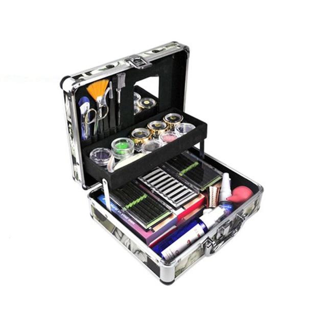 1 Conjunto Falso Eye Lash Eyelash Extension Completa Kit Set Com Caso Professional Sobrancelha Compo o Jogo