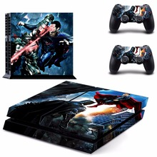 Batman v Superman: Dawn of Justice Vinyl Decal PS4 Skin Sticker For PS4 Playstation 4 Console + Controllers