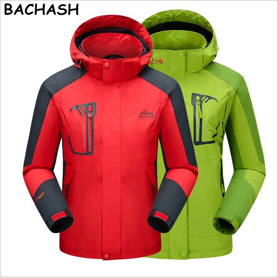 BACHASH New Women Men Jacket Waterproof