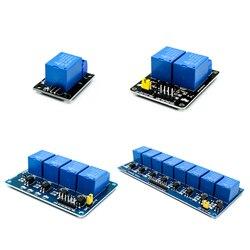 Módulo de relé de 5V 1 2 4 8 canales con optoacoplador. Salida de relé 1 2 4 módulo de relé de 8 vías para arduino en stock