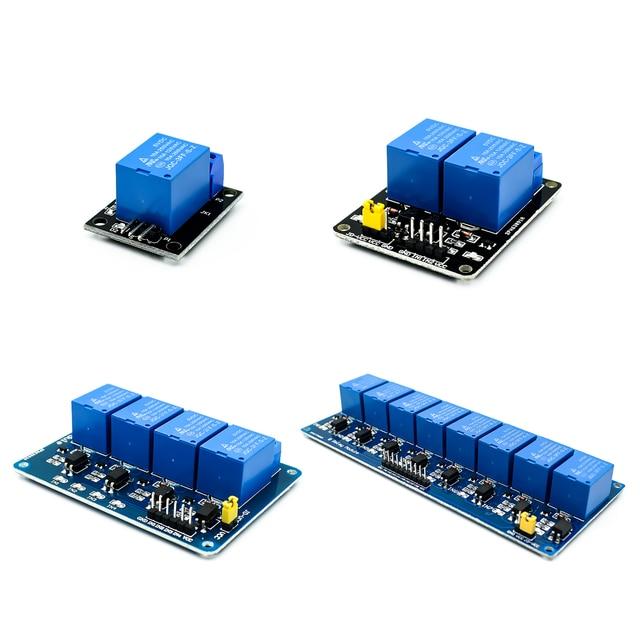 Módulo de relé de 5 V 1 2 4 8 canales con optoacoplador. Módulo de relé de 1 2 4 8 vías para arduino en stock