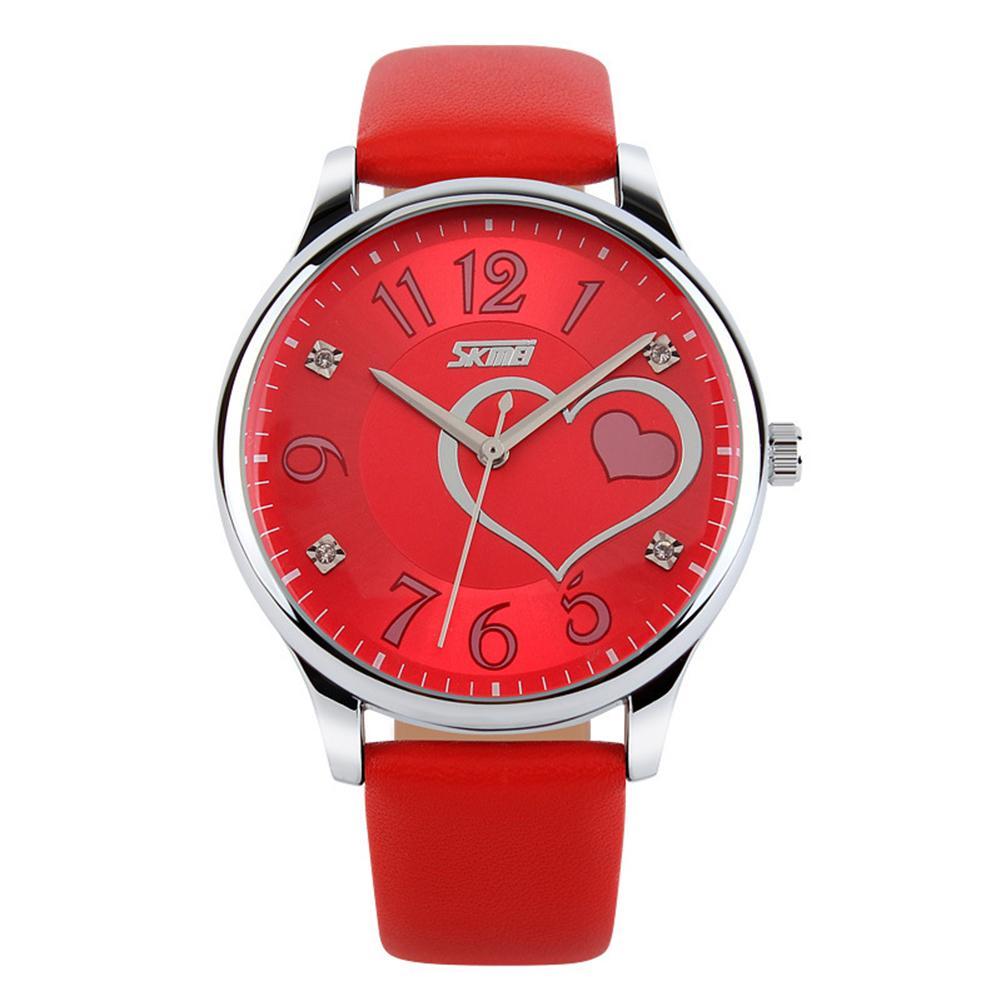 Fashion Women Girls Waterproof Genuine Leather Rhinestone Analog Quartz Wrist Watch цена и фото