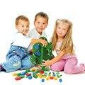 Montessori Juguetes Para Bebés de Madera Coloridas Frutas Granos Cuerdas Árboles de Formación Preescolar Aprendizaje Juguetes Educativos Para Niños