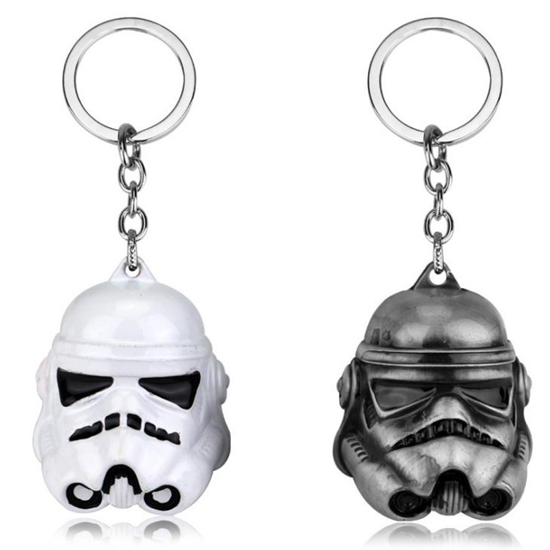 High Quality Star Wars Key Chain Helmet Accessories PVC Anime Cosplay Black/ White Soldier Christmas Halloween Costumes For Men