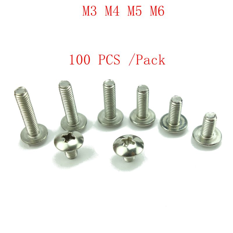 Color : 20mm, Size : M4 10setss Screws M3 M4 Stainless Steel 304 Cup Head Hexagonal Bolt Screw Nut Gasket Set Large Full-Body Pad Combination Fasteners