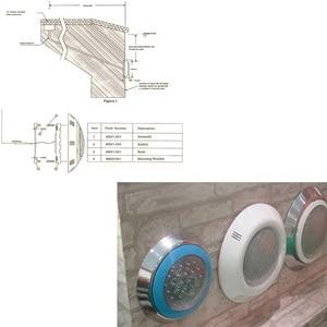 Image 4 - ウォールマウントrgbwプールled 24 ワット 36 ワット水中ライトip 68 防水噴水照明AC12Vと 18 キーリモート 48 ワット 60 ワット 72 ワット