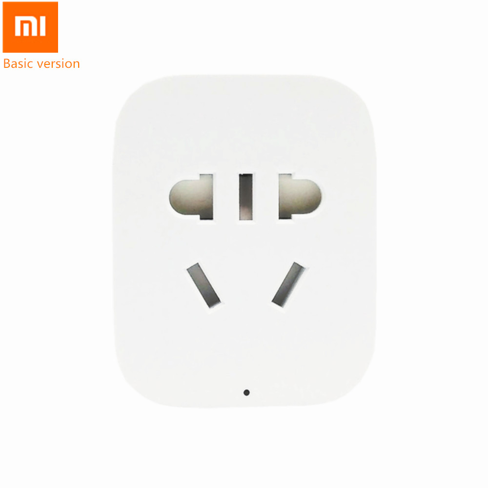 Original Mi Xiaomi Smart Power Socket Plug Basic Version WiFi Remote Control APP Wireless Intelligent Charger For Phones original xiaomi mi smart wifi socket app remote control timer power plug power detection zigbee version