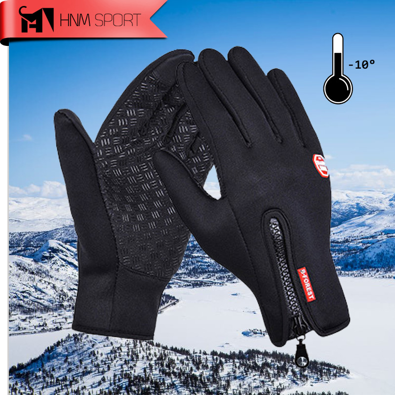 Winter Sports Windstopper Ski Gloves Warm Riding Motorcycle Gloves Outdoor Full Finger Windproof Gloves Luva Unisex DropShipping