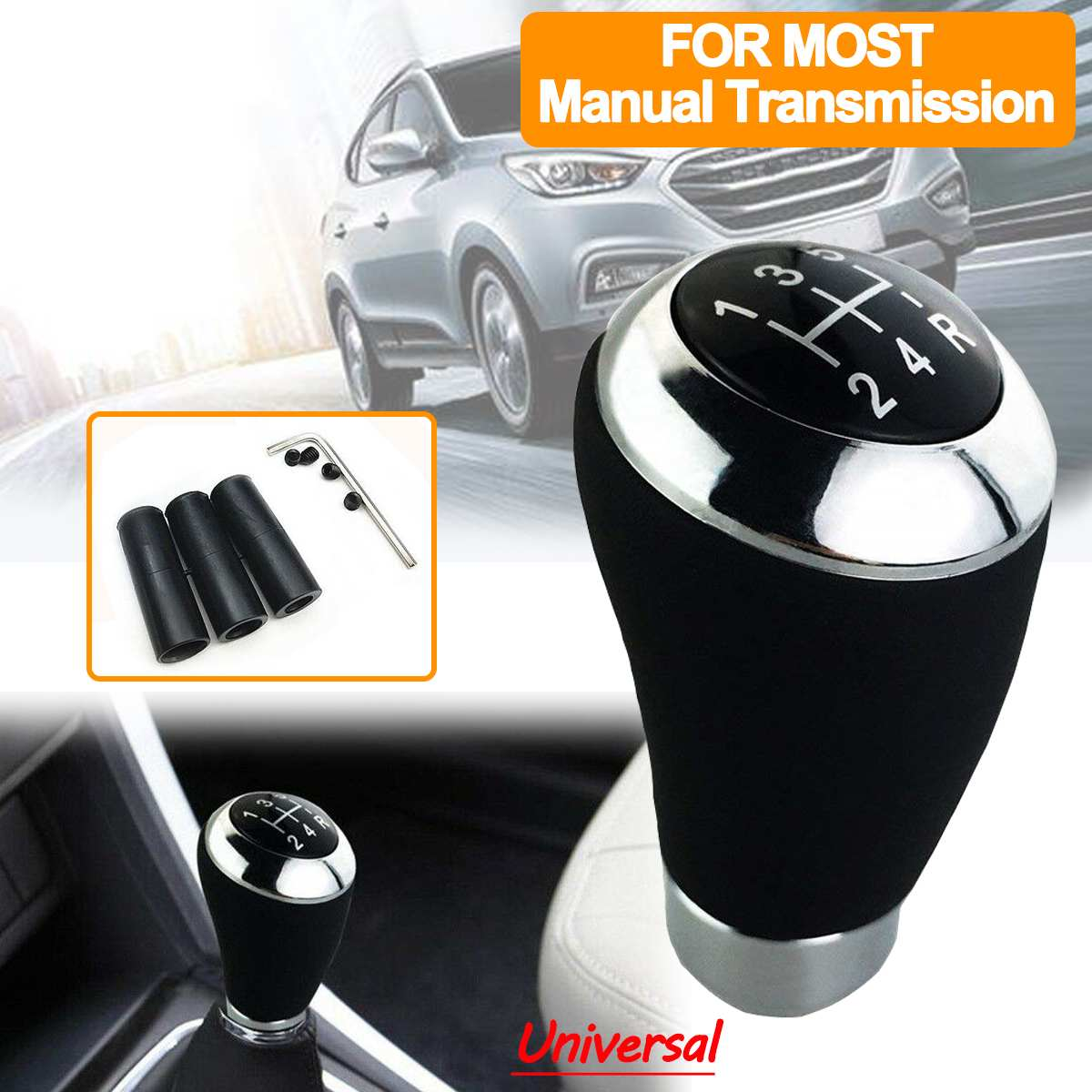 Universal M10 X 1.5 Car Manual Handle Gear Stick Shift Shifter Lever Knob