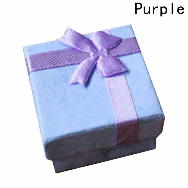 1 шт. маленькие подарочные коробки с бантом упаковка органайзер для макияжа ожерелье серьги кольцо коробка 4X4X3 см бумажная коробка для драгоценностей Ювелирная Подарочная коробка