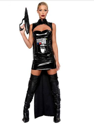 Halloween Cosplay Costume Women Star Wars Anakin Skywalker Commander Darth Vader Sexy Fancy Dress
