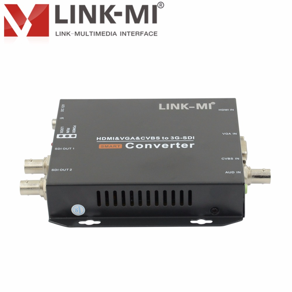 LINK-MI CV190 HD-SDI 200 m 3G-SDI 120 m HDMI VGA CVBS vers SD/HD/3G convertisseur vidéo SDI jusqu'à 1920x1080 @ 60Hz CVBS Signal Multiple - 2