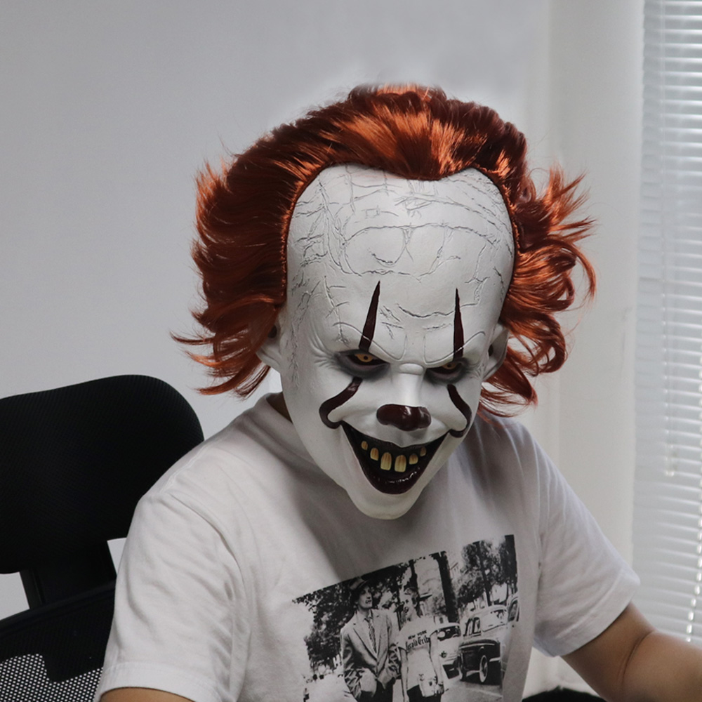 Joker Pennywise masque Stephen King It chapitre deux 2 horreur Cosplay Latex masques casque Clown Halloween fête Costume Prop 2019