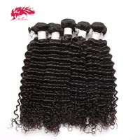 Ali Queen Hair Products Virgin Hair Indian Deep Wave Wholesales 10 PCS Lot Human Hair Bundles 10 26 inches Free Shipping