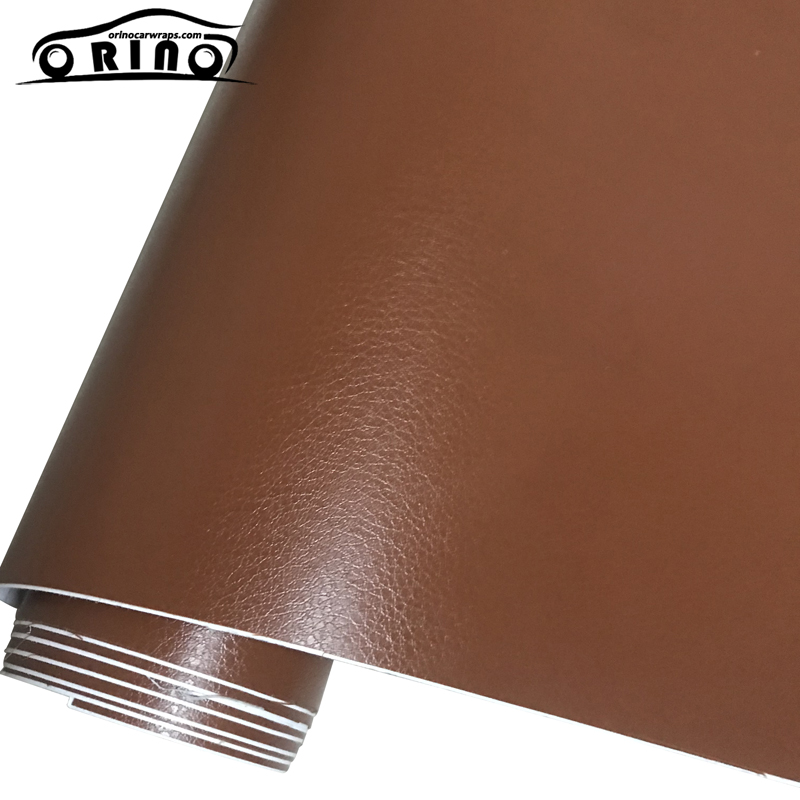 *Red Leather Grain Texture Cabinet Vinyl Car Wrap Sticker Decal Film Sheet
