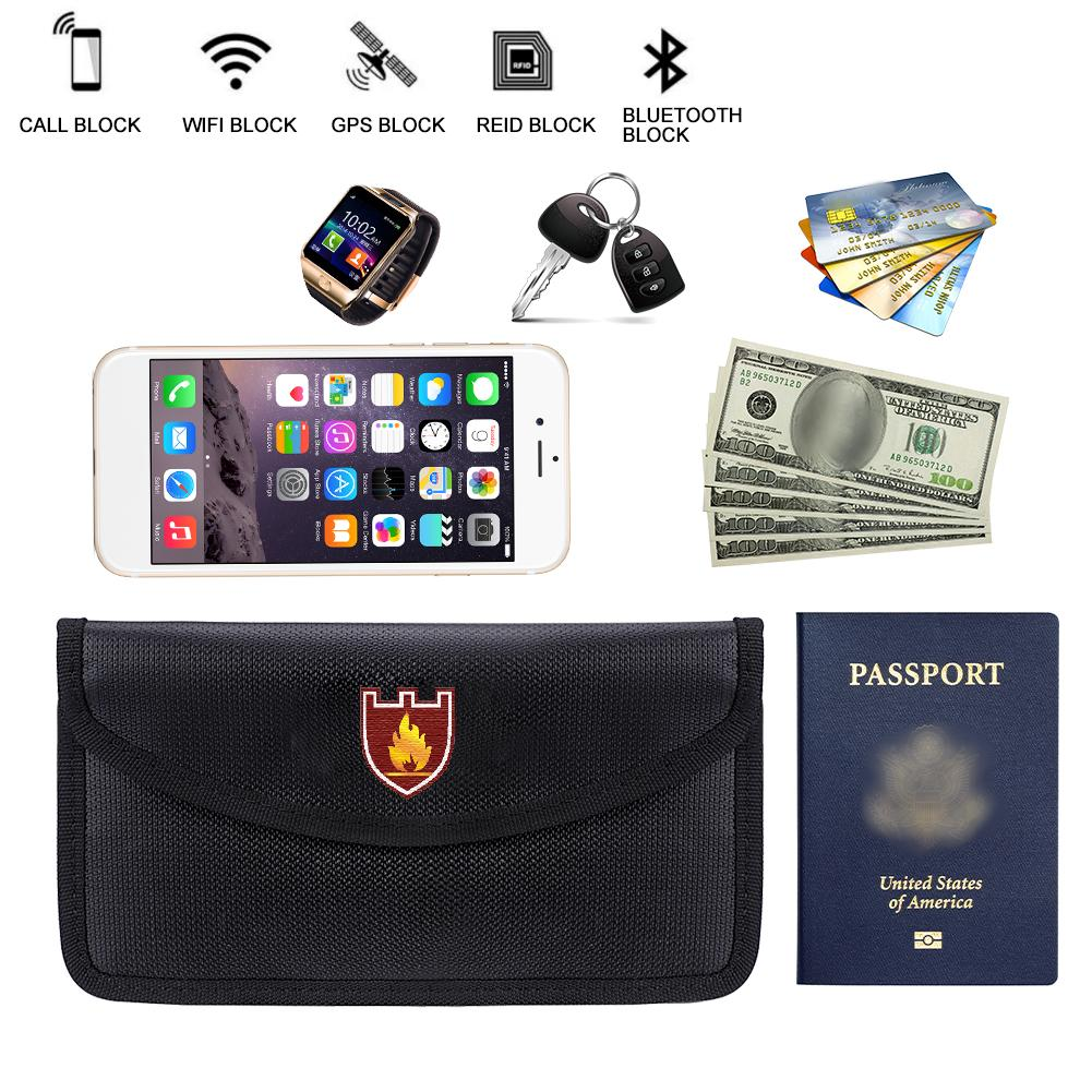Fireproof Money Document File Bag Pouch Cash Bank Cards Passport Valuables Organizer Holder Safe Storage