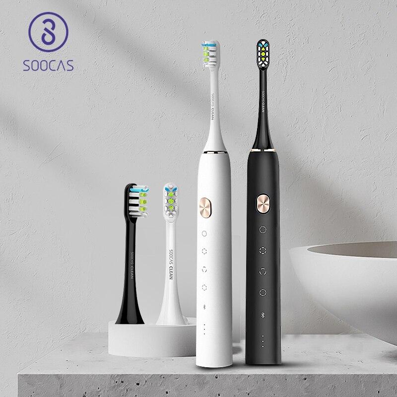 Xiaomi Mijia SOOCAS X3 فرشاة الأسنان الكهربائية فرشاة أسنان سونيك USB قابلة للشحن التلقائي جدا sonic فرشاة أسنان ل تنظيف الأسنان-في فرشاة الأسنان الكهربائية من الأجهزة المنزلية على  مجموعة 1