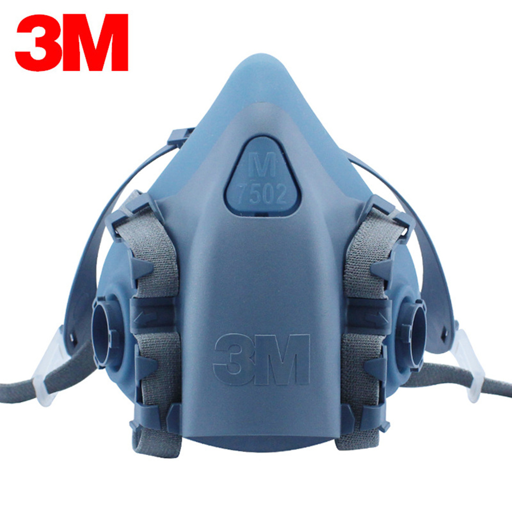 3M 7502 Respirator Chemical Gas Mask Body Dust Filter Paint Dust Spray Half face Mask Construction Pro Protection Tool 7 in 1 7502 half face mask dust gas chemical respirator dual filter for spraying painting organic vapor chemical gas safety