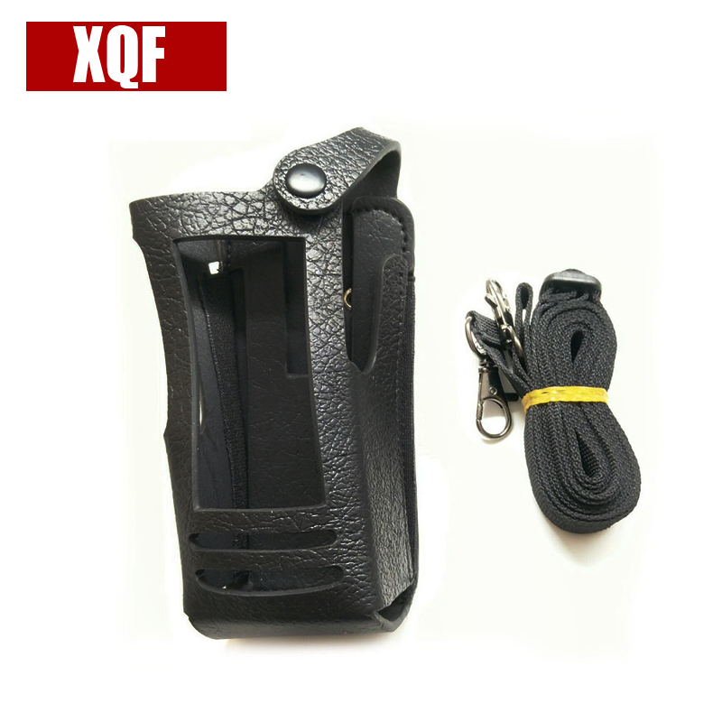 XQF New Hard Leather Carrying Case For Motorola Two Way Radio XIRP8268 PMLN5021 P8200/P8268/P8268 Holster