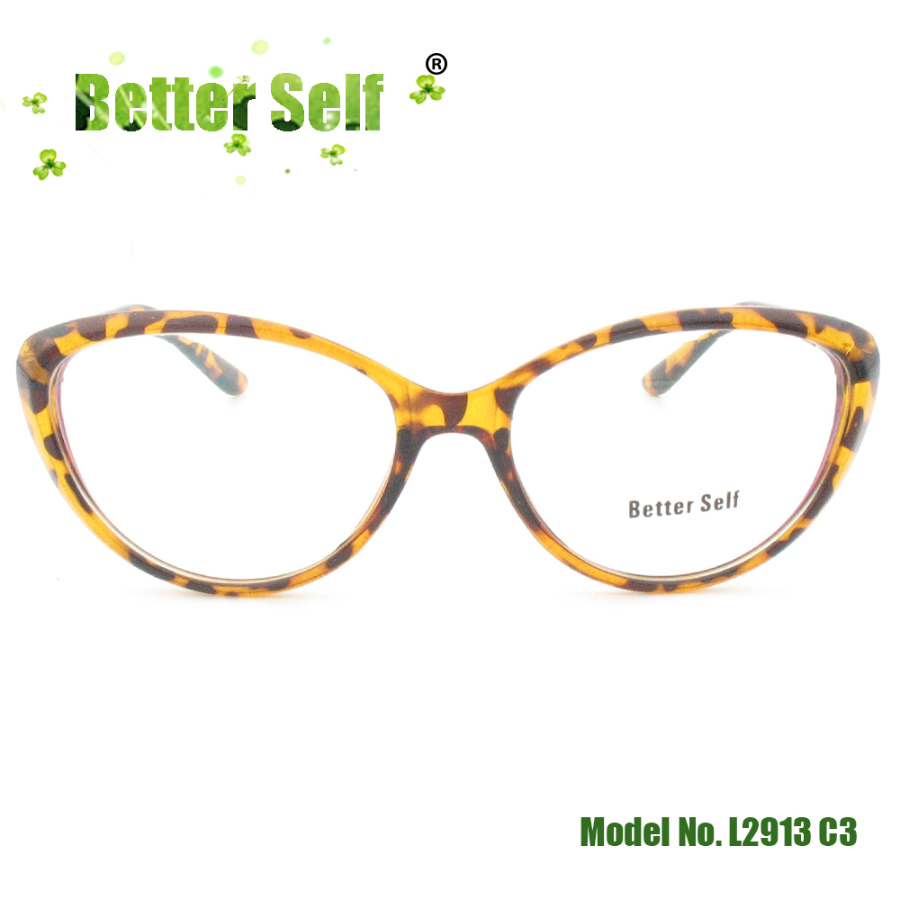 Cat Eye Glasses Optical Frame Full Rim Spectacles Beauty PC Eyeglasses Metal Decorate Can Do Myopia Better Self Stock L2913
