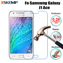 9H Tempered Glass Ultra-thin Screen Protector For Samsung Galaxy J1 Ace Glass Film Tough Protection Glass Cover With Clean Tools