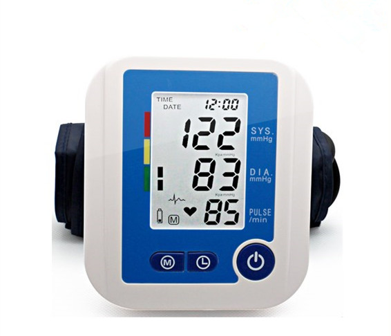 Arm Type Phonetic Electronic Manometer BP-JC312 Digital Upper Arm Blood Pressure Pulse Monitors Use For Blood Pressure Checking portable lcd digital manometer pressure gauge ht 1895 psi air pressure meter protective bag manometro pressure meter