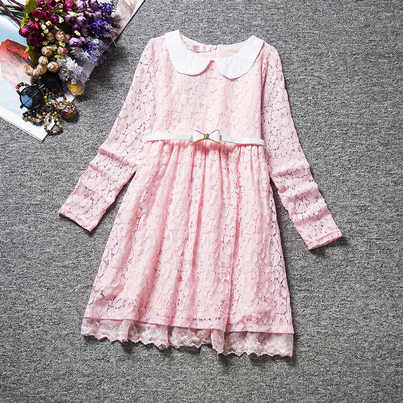 U-SWEAR 2019 New Arrival Kid   Flower     Girl     Dresses   Soft Lace Flora Full Sleeve Sweatheart Sashes A-line   Flower     Girl   Pageant   Dress