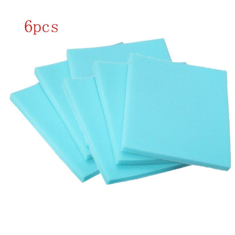 6pcs/lot Sponge Filter Hepa Filter Cotton Replacements For Philips FC8470 FC8471 FC8632 FC8630 FC8634 FC8645 FC9520 FC9521