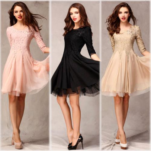 best selling fashion ladies dresses 3/4 sleeve slim fit tunic ball