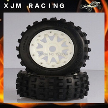 1/5 Scale RC KM RV HPI Baja 5T/5SC Buggy high-strength nylon front wheel X 2 tire assembly