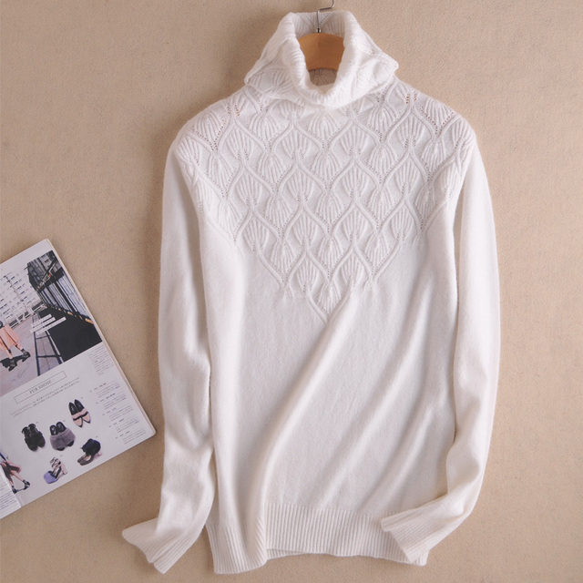 Women Sweaters 100% Cashmere Pullover Hot Sale Turtleneck Knitwear Fashion Famale Tops Pure Cashmere Knitted Jumpers Clothes