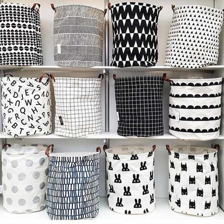 Zakka INS K Panier À Linge Vêtements baske blanchisserie De Stockage Sac Enfants Jouets Vêtements Sac Organisateur Simple Écologique Décor À La Maison