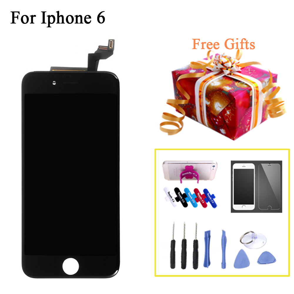 ФОТО Wholesale 5pcs LCD Complete Screen Display For iPhone 6 4.7 inch With Touch Screen Digitizer Assembly No Dead Pixel For Iphone6