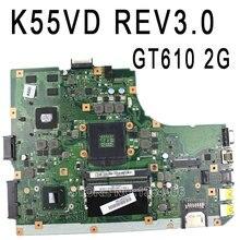Лидер продаж! Для K55VD A55V плата REV3.0 для ASUS K55VD A55V плате неинтегрированный с графикой