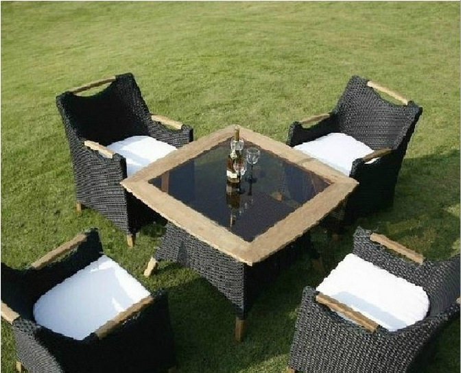 silla de mimbre y ocasional muebles de exterior balcn jardn mesa de mimbre y sillas lt