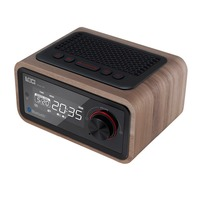 H90 Retro Multifunction Wooden Bluetooth Speaker Subwoofer FM Radio Support Alarm Clock AUX TF Card USB Disk With Remote Control