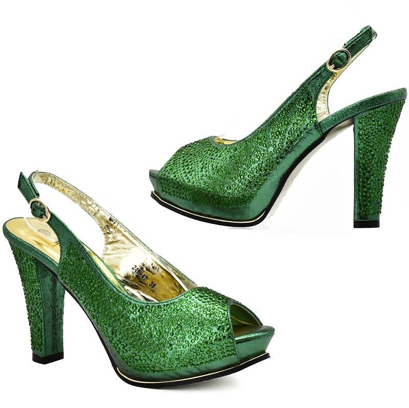Negro Y A Tinto Las Bolsa Conjunto Juego Con Nueva De Llegada La Zapatos Ventas verde Alta En Rhinestone vino oro Mujeres plata Nigeriano Decorado Bolso Calidad aqR40Haw