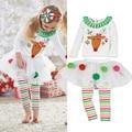 Christmas Baby Girls Clothing Sets 2017 Kids New Arrivals Spring Autumn Cartoon Clothes Suit For Girls Roupas Infantis Menina