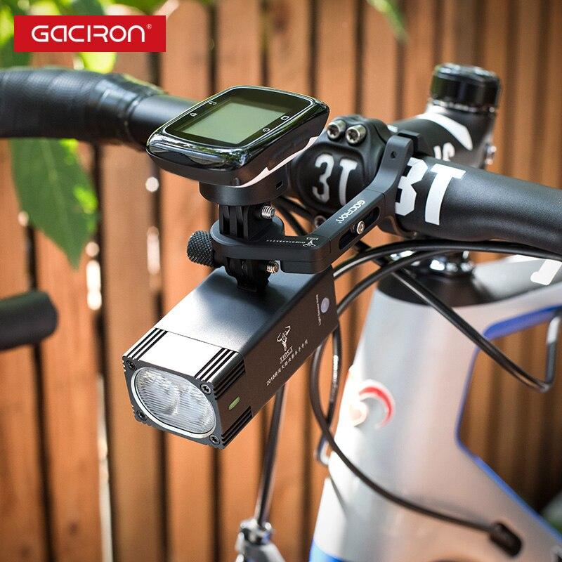 GACIRON 1000, 1600 люмен, велосипедный светильник, велосипедный головной светильник с креплением, водонепроницаемый перезаряжаемый велосипедный светильник для вспышки, аксессуары для гонок - 3