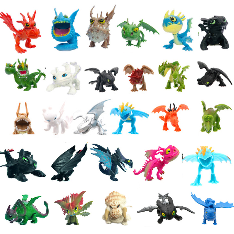 13pcs/8pcs/2pcs How to Train Your Dragon 3 Figure Toys Night Fury Toothless Dragon Model