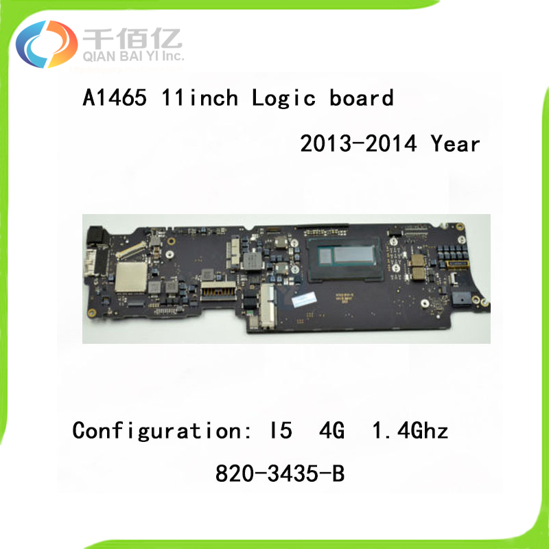 <font><b>A1465</b></font> Logic Board i5 1.4GHz 4GB for MacBook Air 11.6'' Mother Board 2013 2014 Year 820-3435-A 820-3435-B image