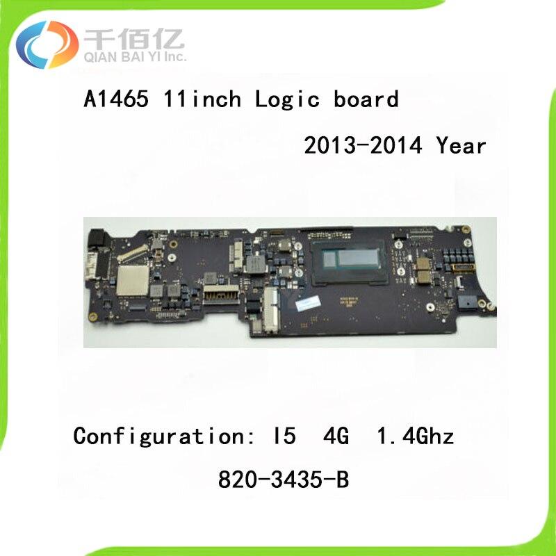 A1465 материнскую плату i5 1.4 ГГц 4 ГБ для MacBook Air 11.6 ''плата совместима 2013 2014 год 820 3435 A 820 3435 B