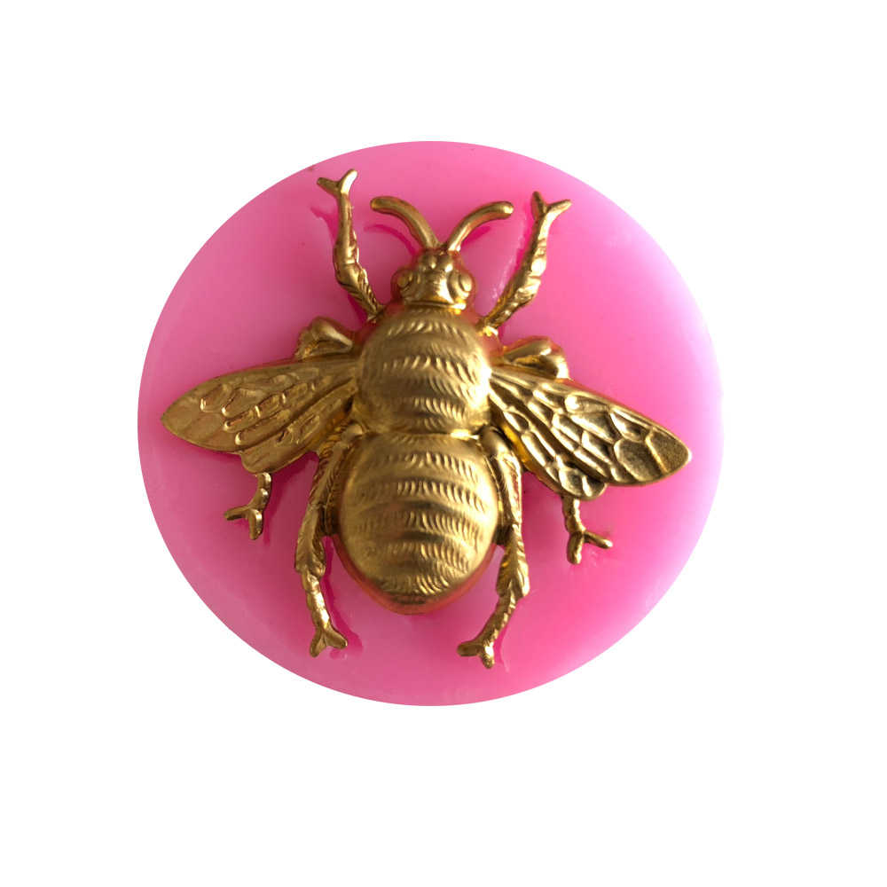Insect Shape Fondant Cake Silicone Mold Chocolate Candy Molds Pastry Biscuits Mould Baking Cake Wedding Decoration Tools Soap